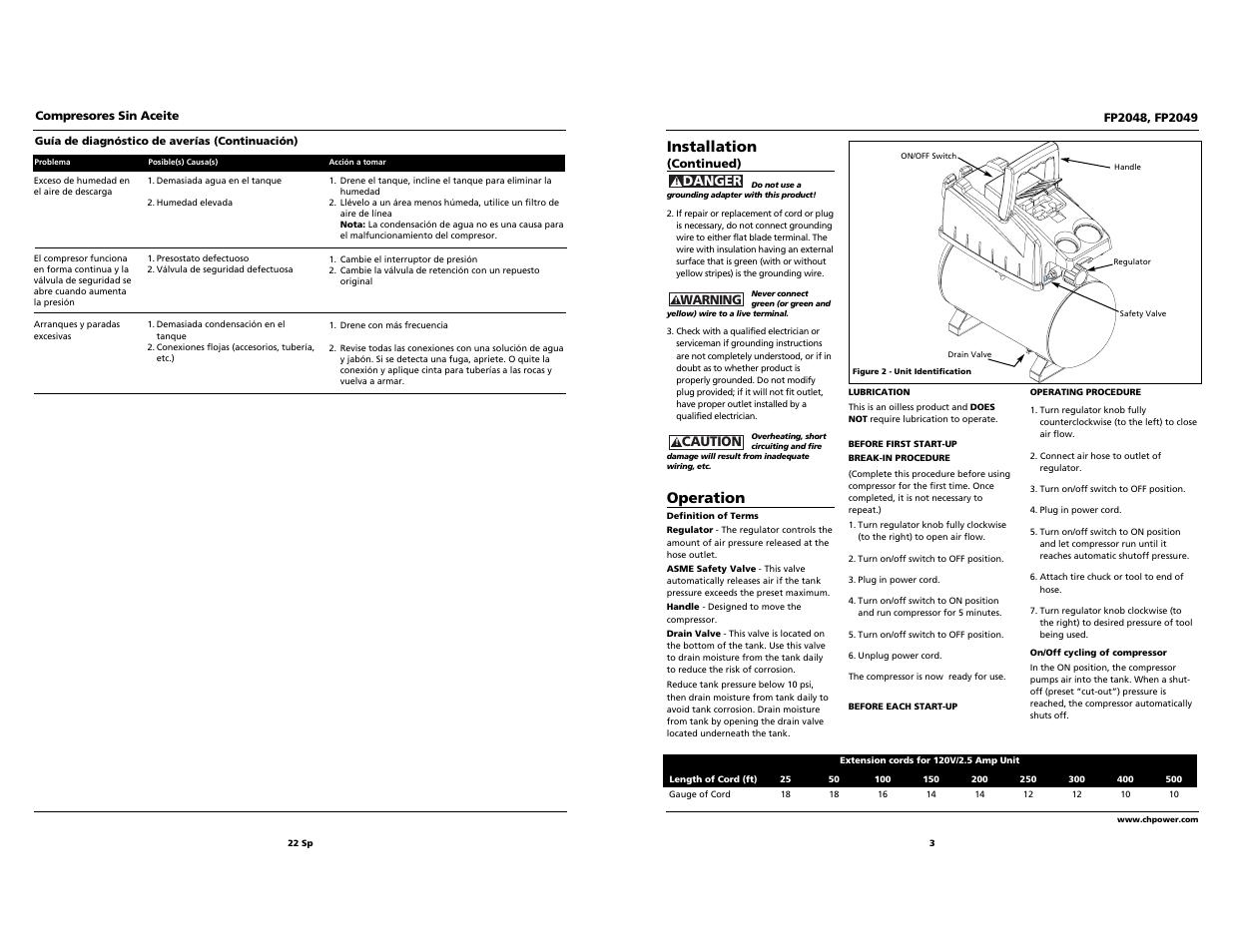 installation operation campbell hausfeld fp2049 user manual rh manualsdir com Installation Guide Installation Guide