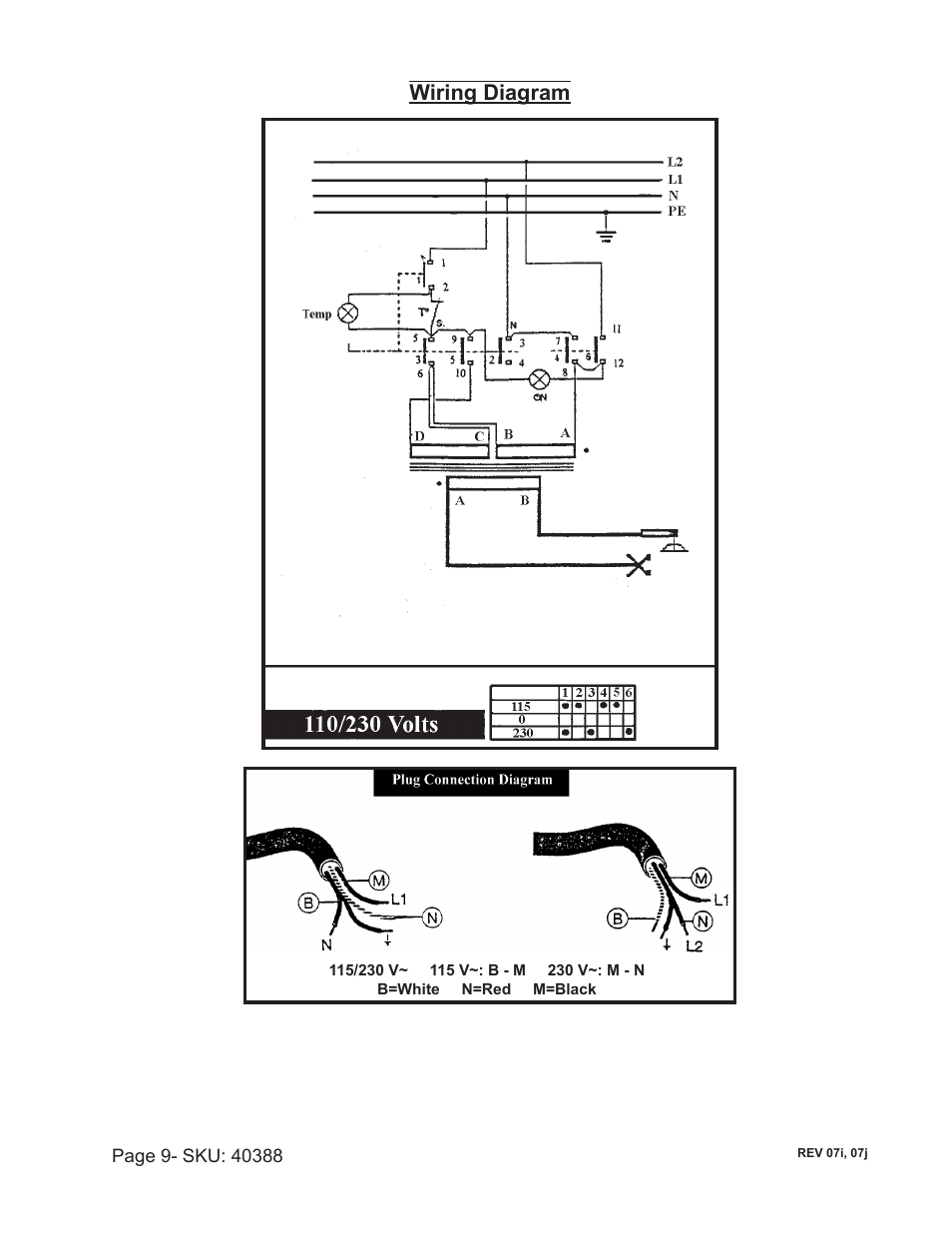 Wiring       diagram      Chicago Electric 40388    User    Manual   Page