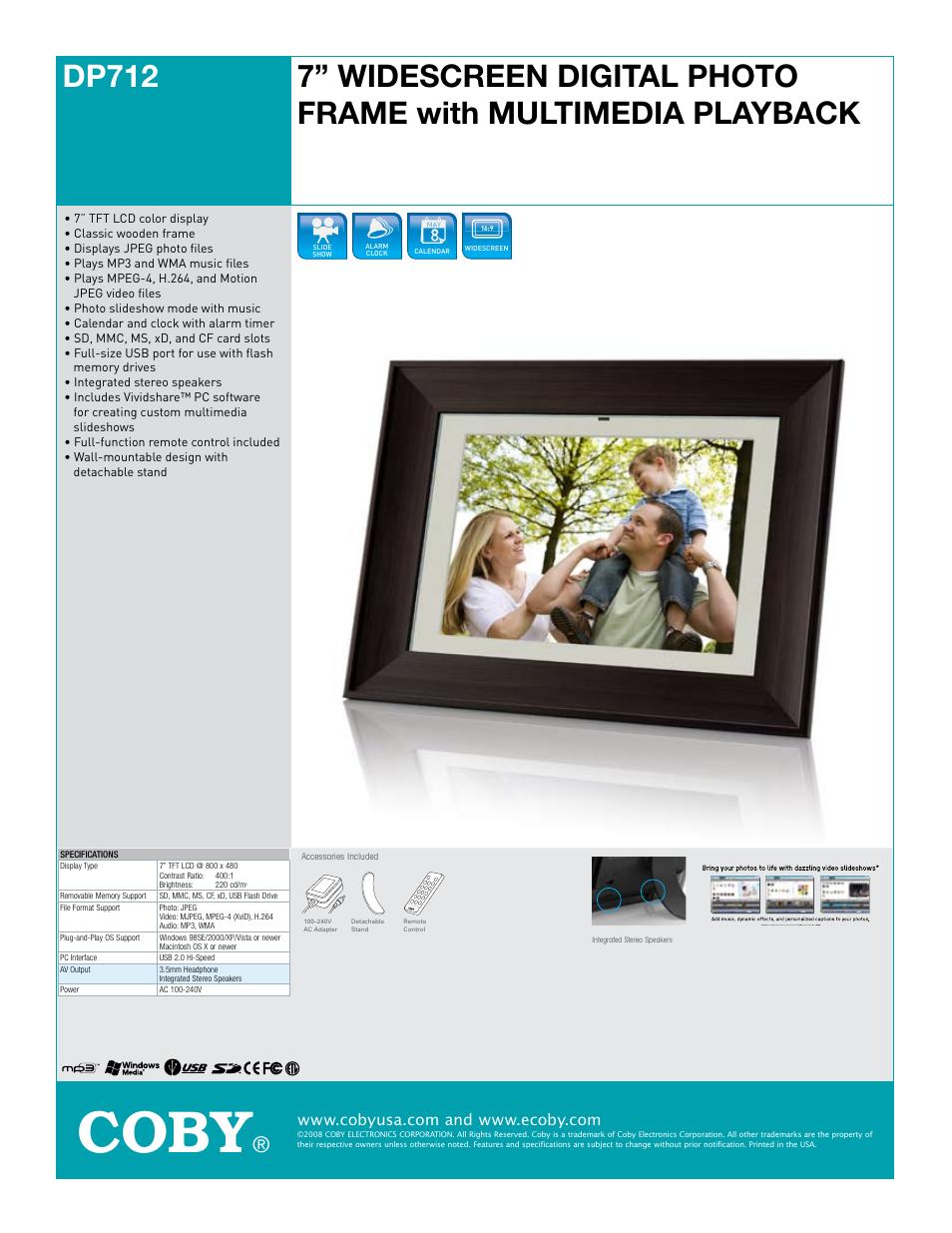 ungew hnlich coby digital picture frame fotos rahmen ideen rh markjohnsonshow info Coby Photo Viewer Manuals Coby Photo Viewer Manuals