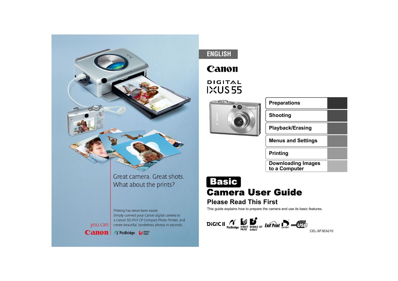 canon ixus 55 manual