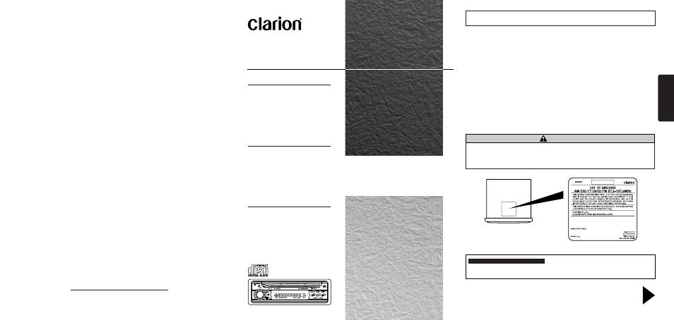 clarion db135 user manual 12 pages rh manualsdir com Operators Manual User Manual Template