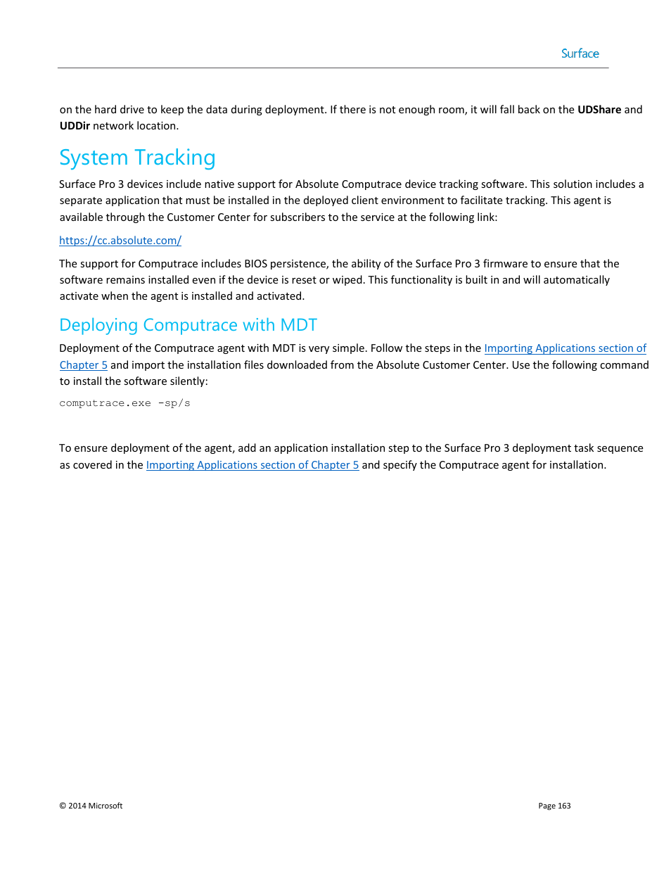 system tracking deploying computrace with mdt microsoft surface 3