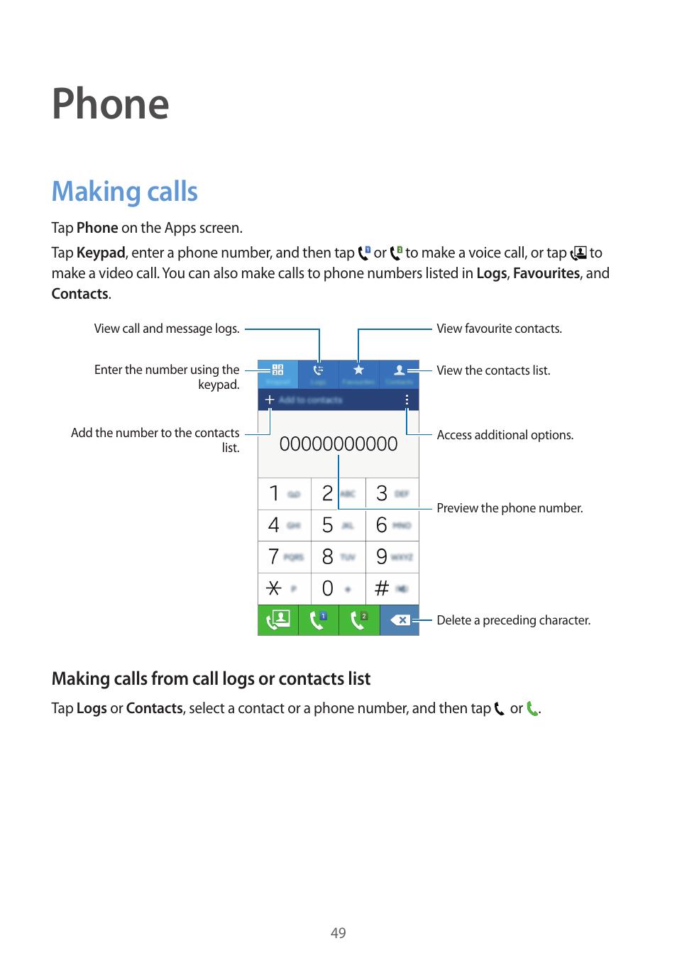 phone making calls 49 making calls samsung galaxy grand prime rh manualsdir com Samsung Cell Phones Samsung Cellular Phones