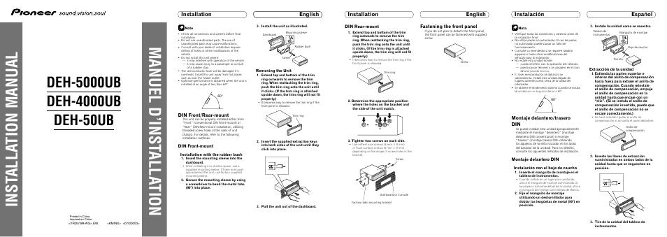 pioneer 4000ub manual product user guide instruction u2022 rh testdpc co Atari Climber Manual pioneer deh-4000ub manual pdf