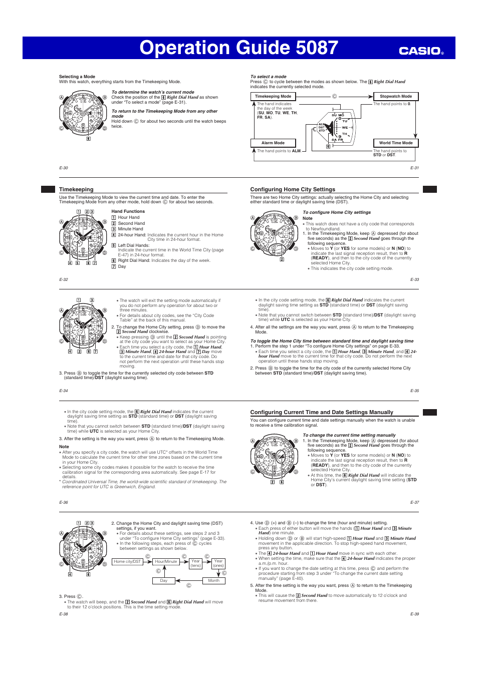 Operation guide 5087 | g-shock gw-4000 user manual | page 5 / 8.