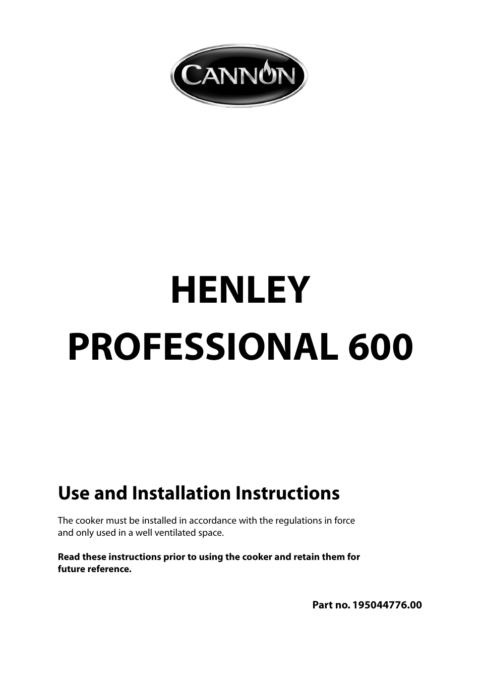 cannon henley professional 600 10685g user manual 28 pages also rh manualsdir com Double Oven Dual Fuel Range Range Cookers