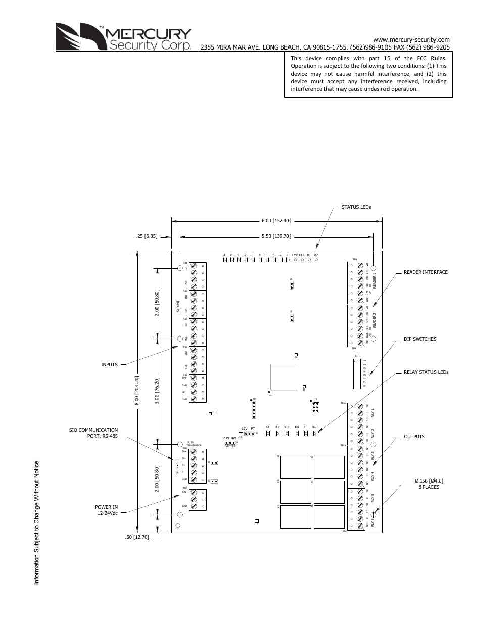 Keri Systems Mr52 User Manual