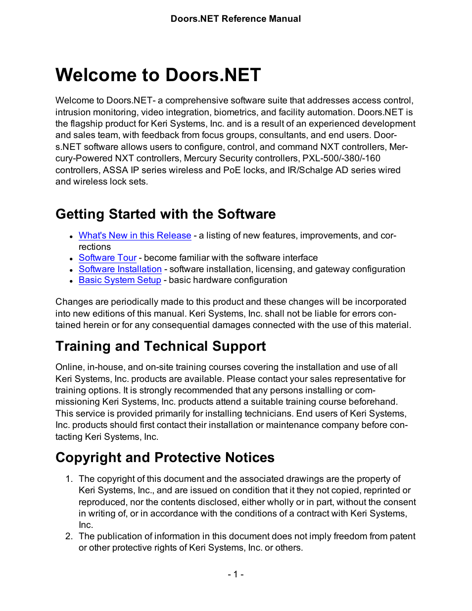keri systems doorsnet manual page1 keri systems doors net manual user manual 602 pages Magnetic Door Locks Access Control at creativeand.co