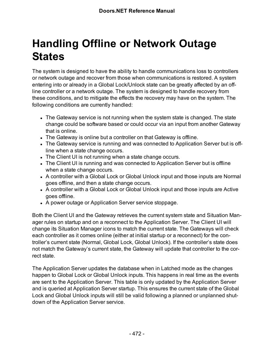 Handling offline or network outage states | Keri Systems Doors.NET Manual User Manual | Page 472 / 602