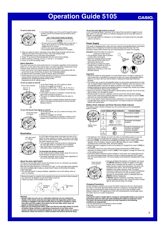 illumination power supply operation guide 5105 casio 5105 user rh manualsdir com Alarm Programming Manuals Manual Alarm Poster