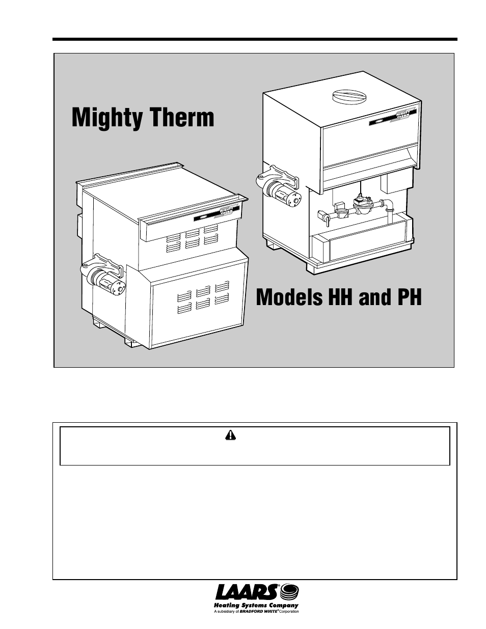 laars mighty therm ph (sizes 500 1825) installation, operation and
