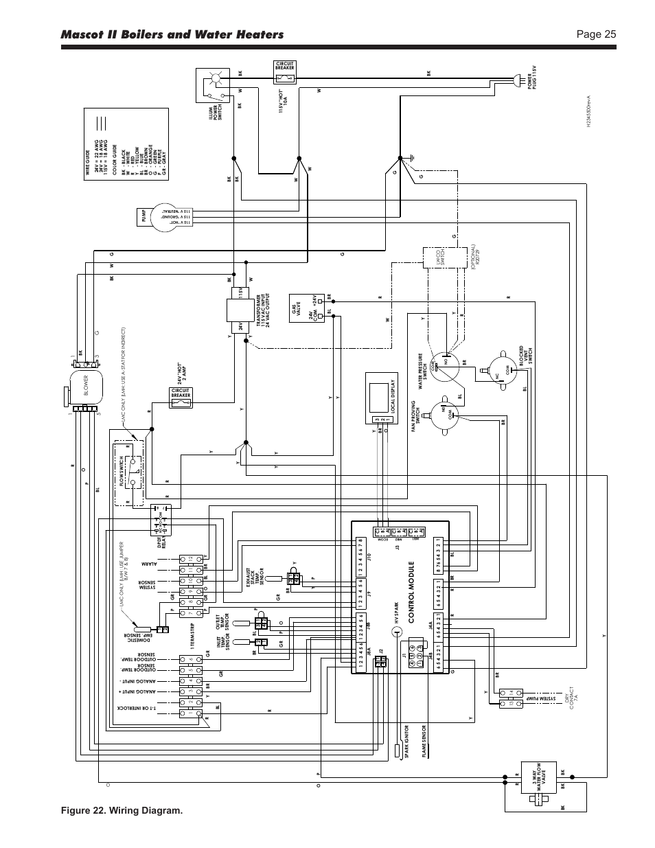 Mascot Ii Boilers And Water Heaters Page 25 Figure 22 Wiring Diagrams For Diagram