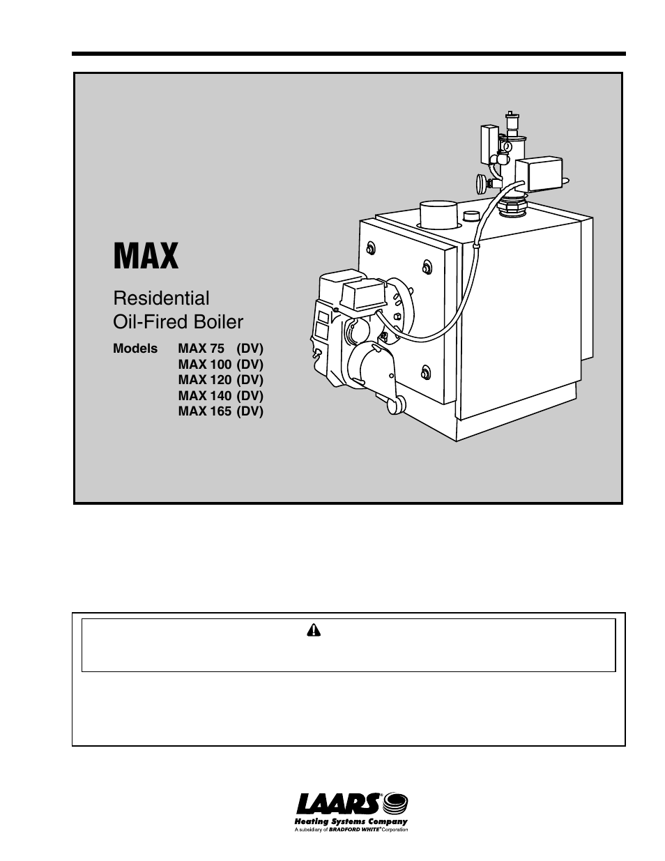 LAARS MAX 165 (DV) - Installation, Operation and Maintenance ...
