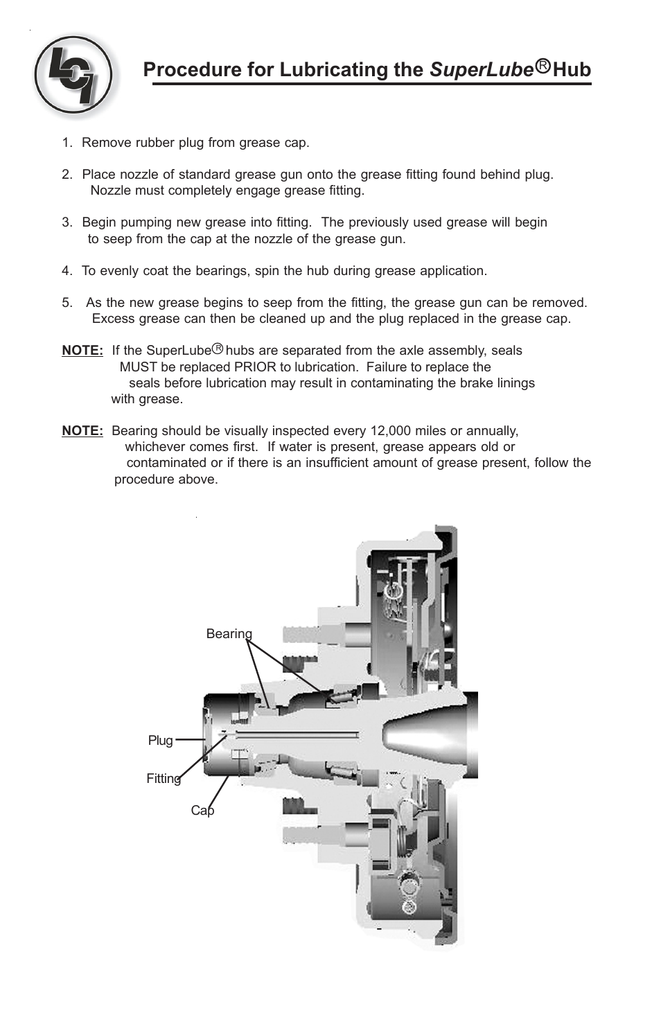 Lippert Components Super Lube (Axle) User Manual   1 page