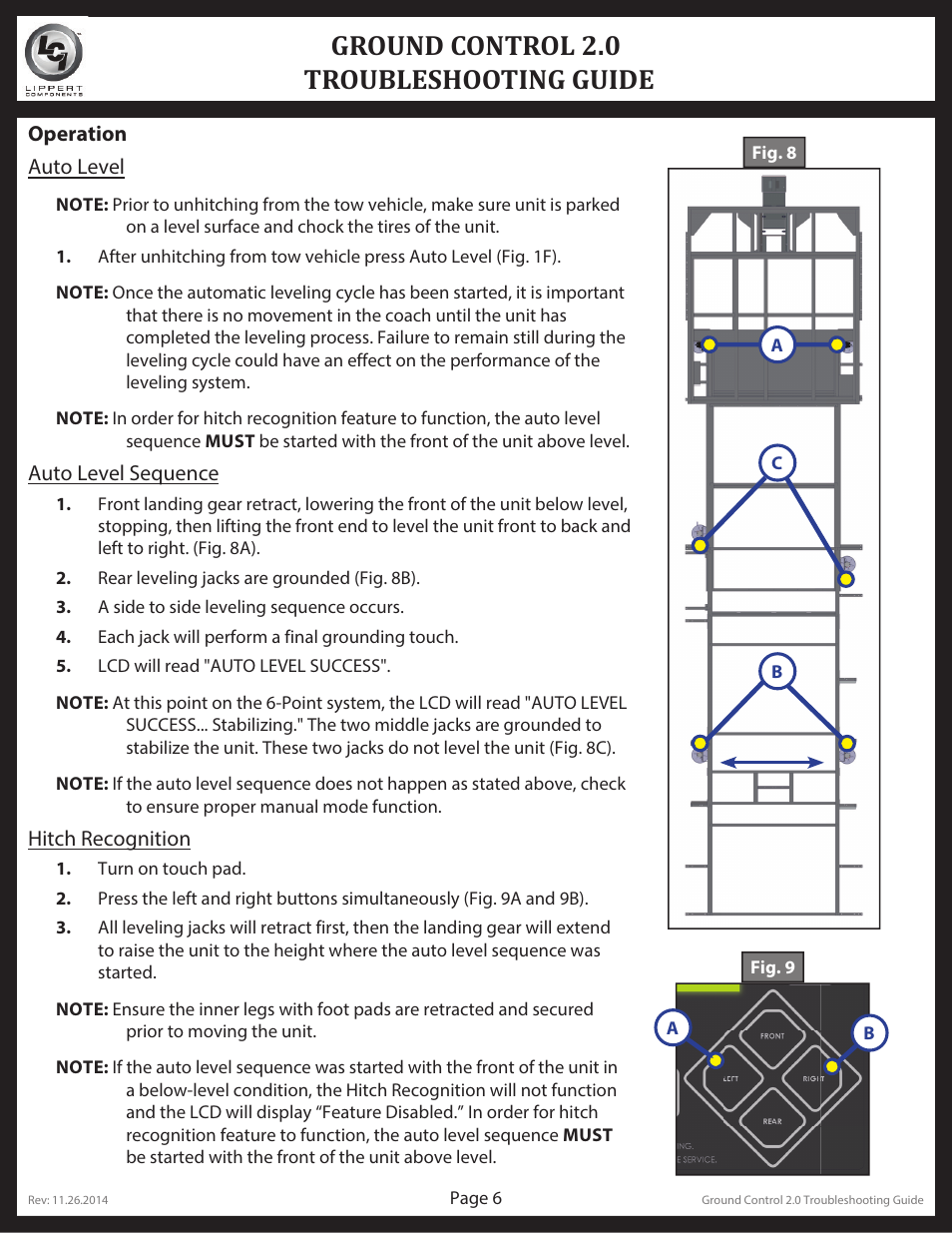 Ground control 2 0 troubleshooting guide | Lippert