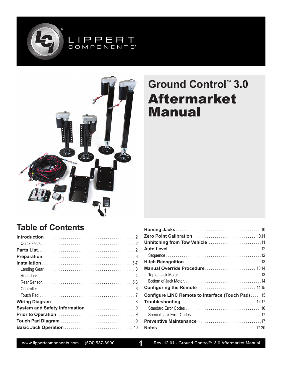 Lippert Components Ground Control 30 Aftermarket User
