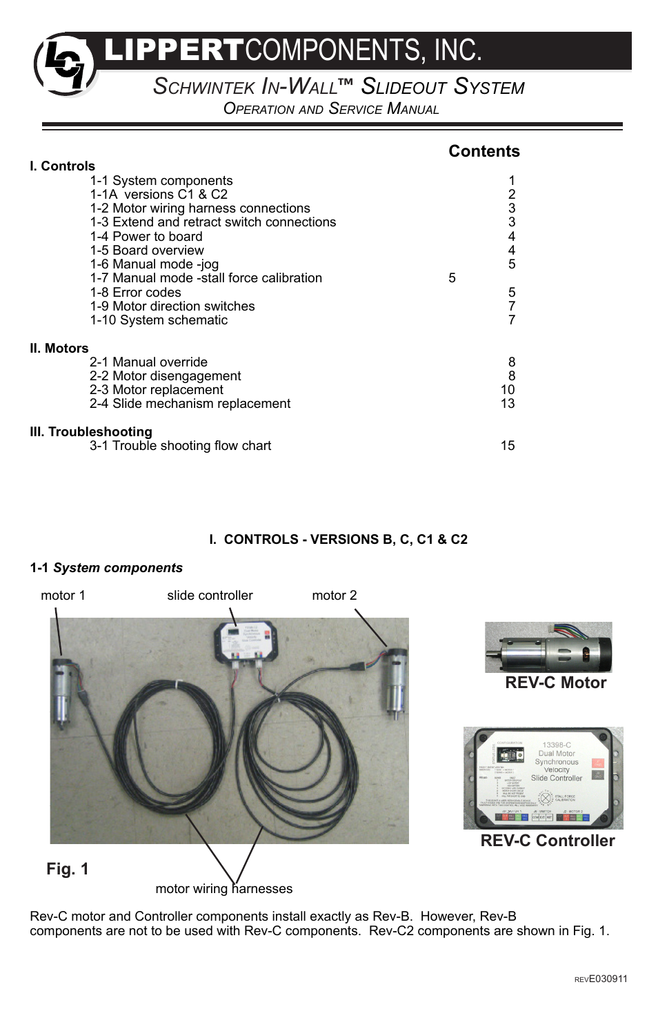 Lippert Components In Wall Slide Out System User Manual 16 Pages C2 Wiring Schematic