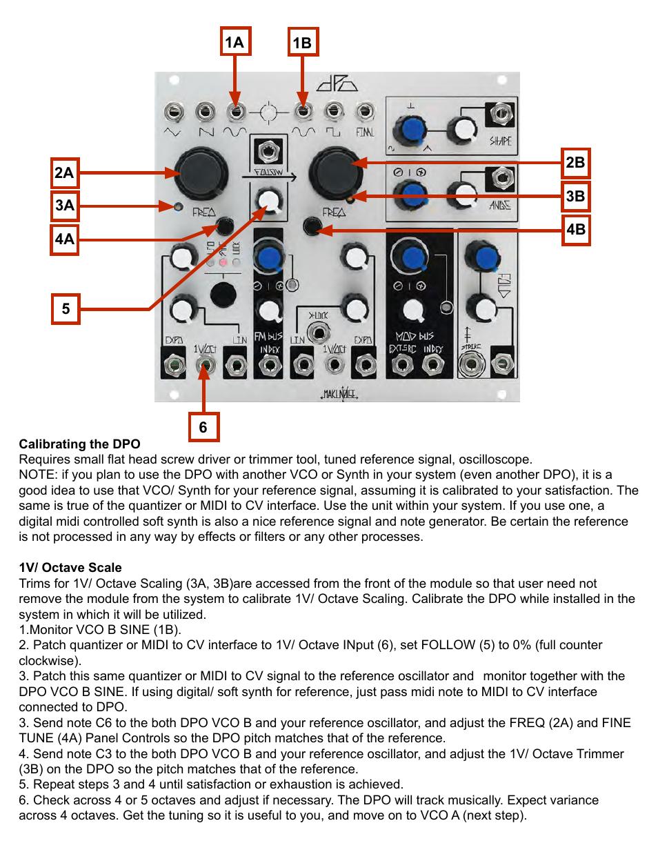 Make Noise Dpo User Manual