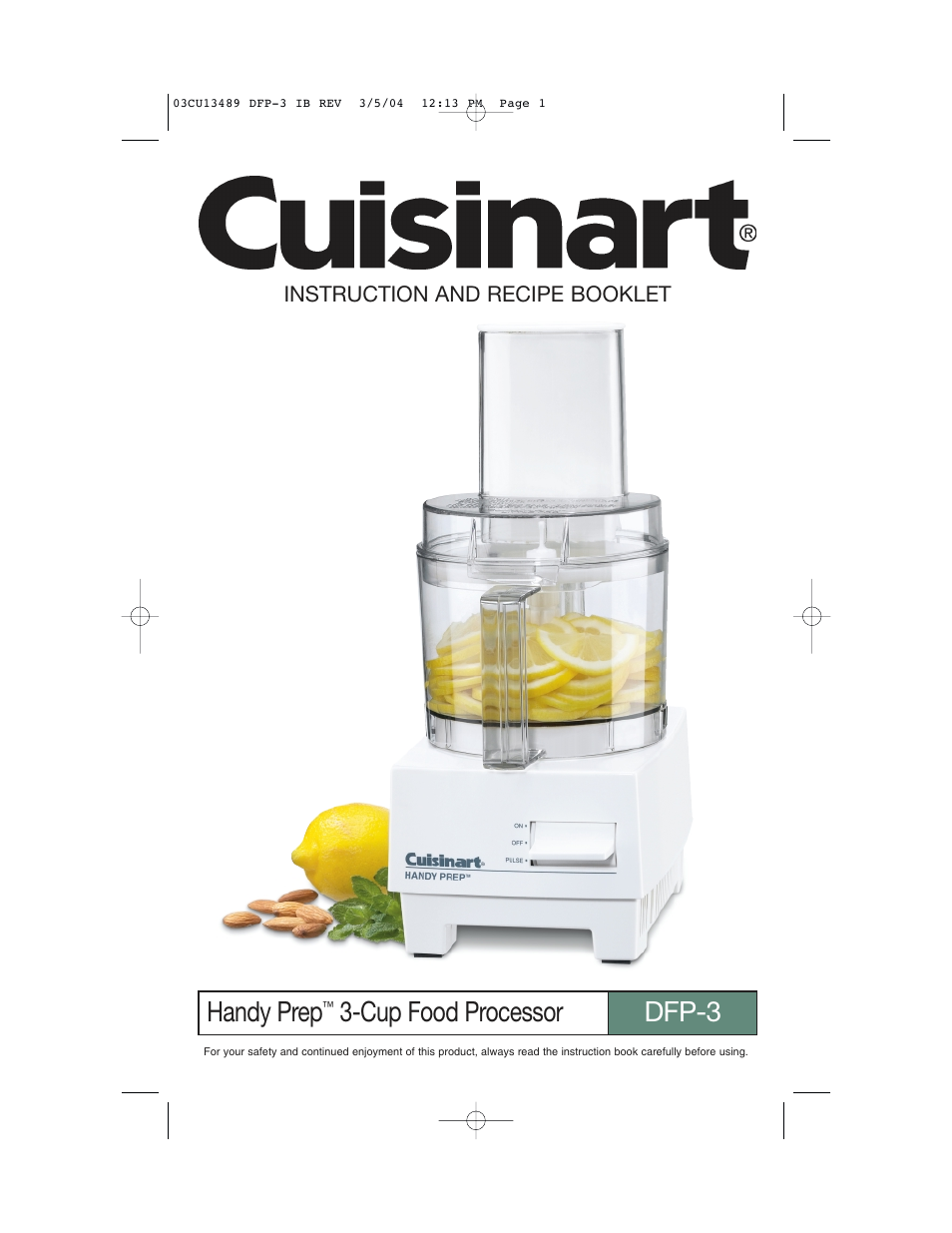 Cuisinart handy prep dfp 3 user manual 32 pages forumfinder Image collections