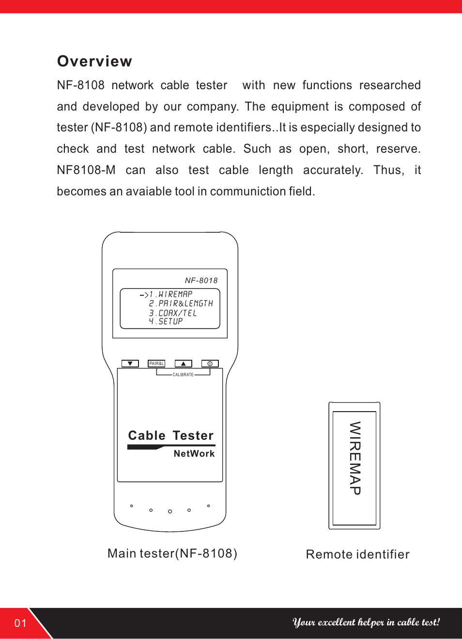 Overview Noyafa Nf 8108 User Manual Page 4 16