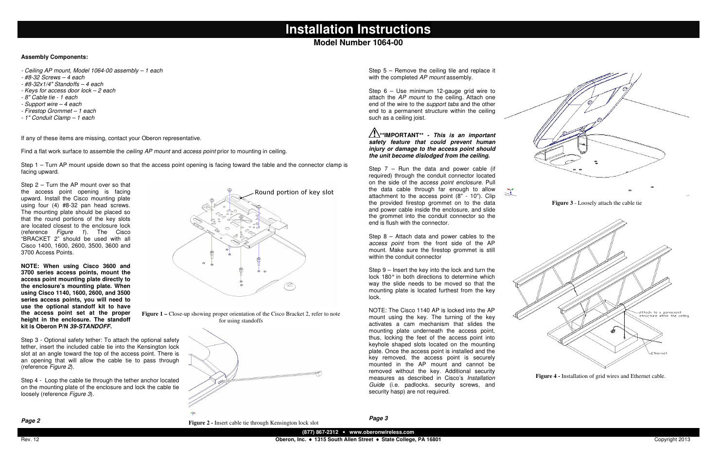 Wiring Diagram Grommet Key Guide And Troubleshooting Of Schematic Symbols Chart Installation Instructions Oberon 1064 00 User Manual Page 2 Rh Manualsdir Com O2 Sensor