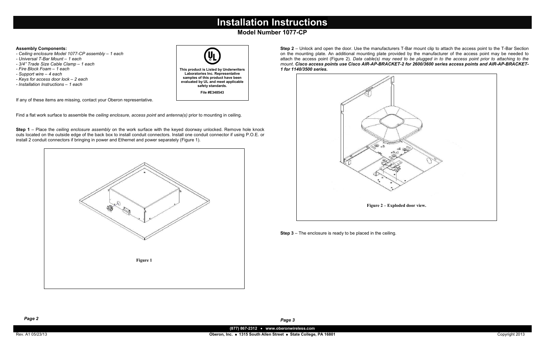 oberon 1077 cp user manual 2 pages rh manualsdir com