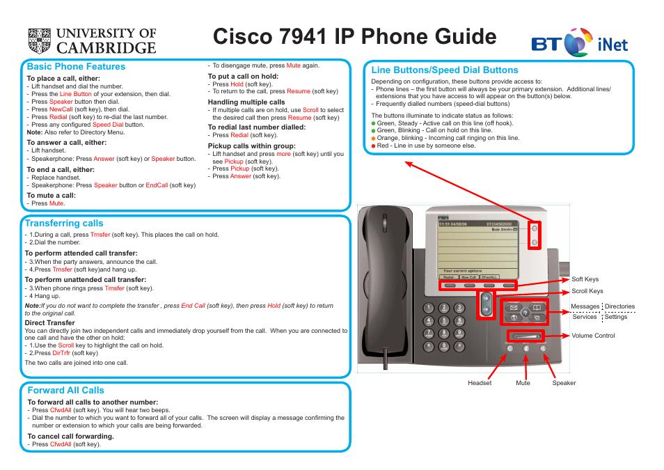 cisco bt inet 7941 user manual 2 pages rh manualsdir com cisco ip phone 7941g manuel cisco ip phone 7941 manual download