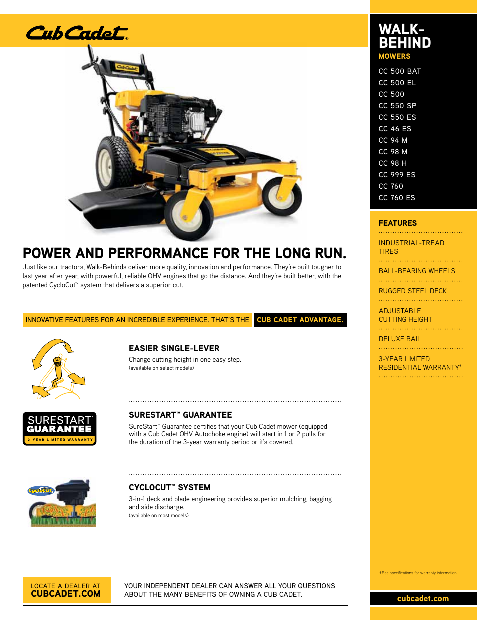 cub cadet cc 550 sp user manual 2 pages also for cc 500 el cc 500 rh manualsdir com Cub Cadet G1548 Cub Cadet Wide Area
