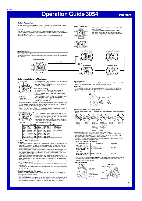 casio operation guide 3054 user manual 5 pages rh manualsdir com  casio module no. 3054 user guide