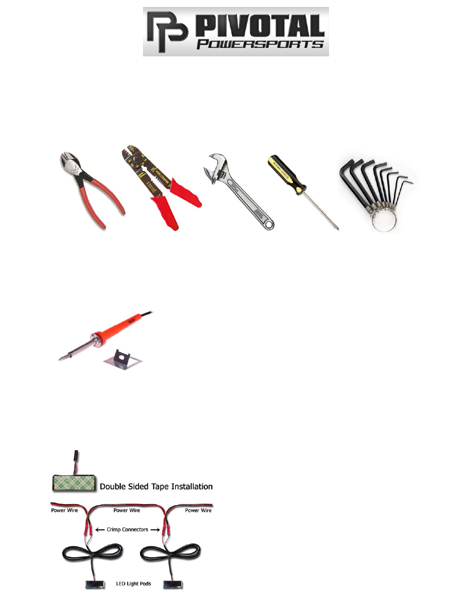 Pivotal Powersports LED Lighting Kit User Manual | 2 pages