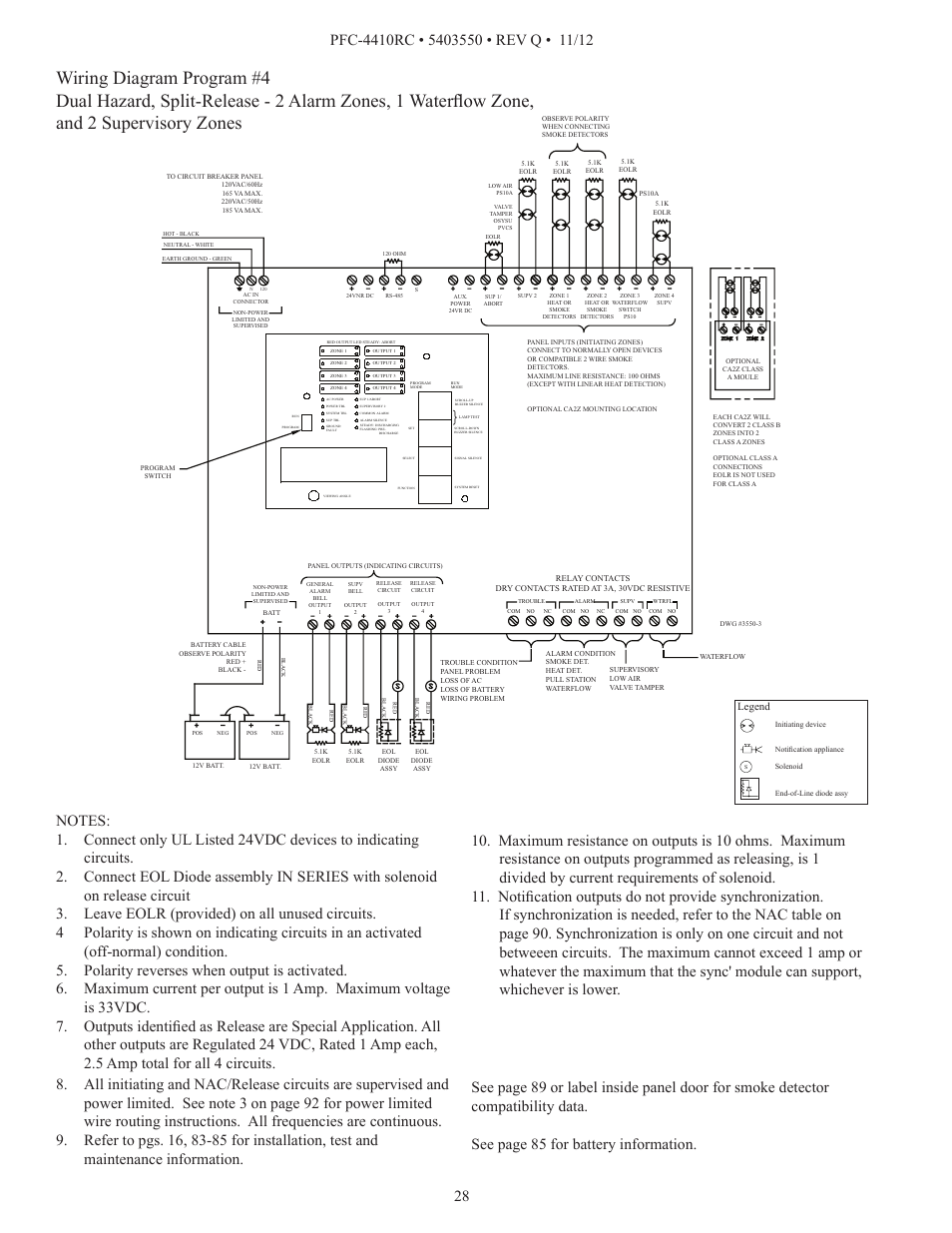 Pfc Wiring Diagram Schemes House Diagrams For Lighting Circuits Potter 4410rc User Manual Page 28 99 Rh Manualsdir Com Residential Electrical Light Switch