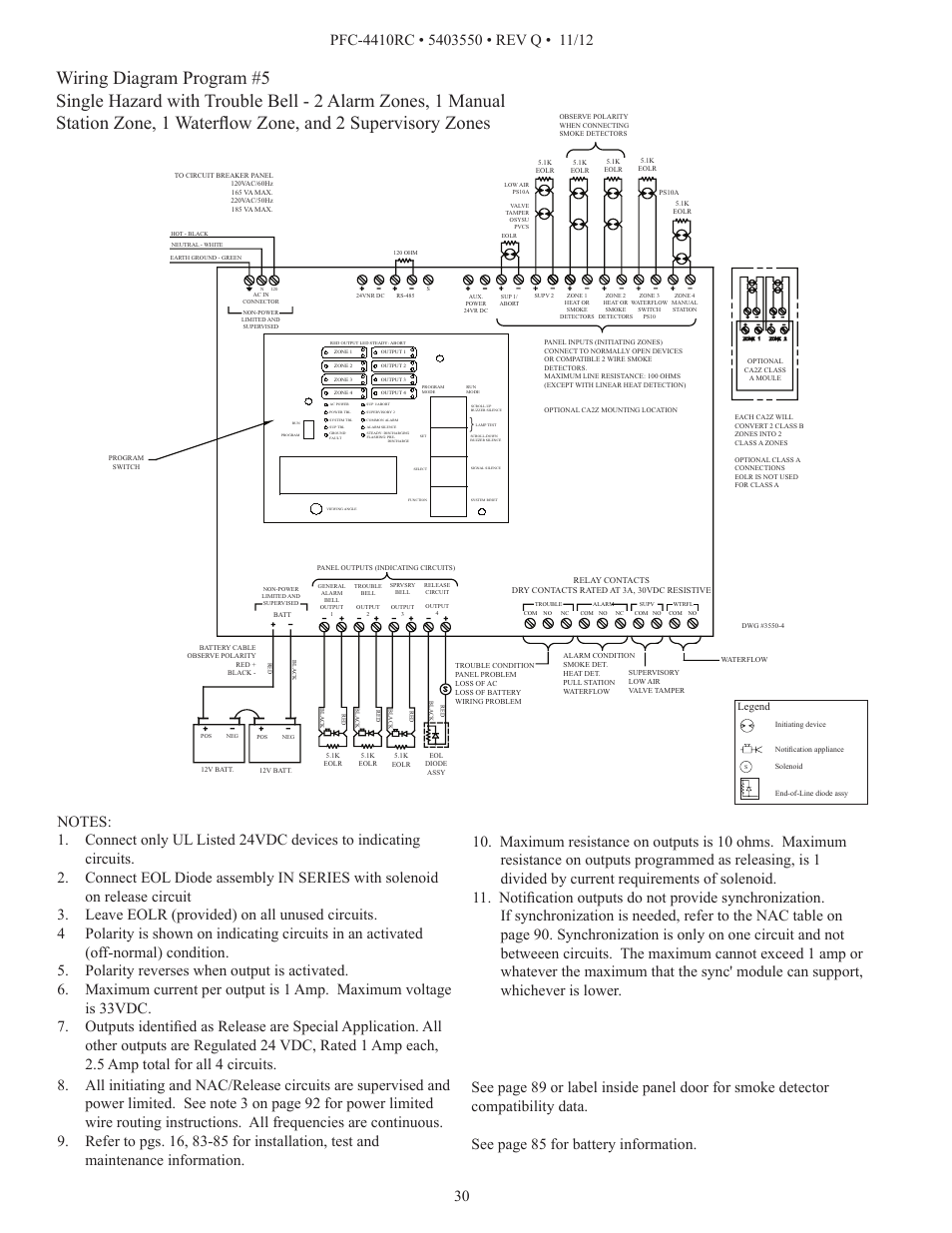 Potter Tamper Switch Wiring Diagram 35 Images Rc Relay Schematic Pfc 4410rc Page30 User Manual Page 30 99