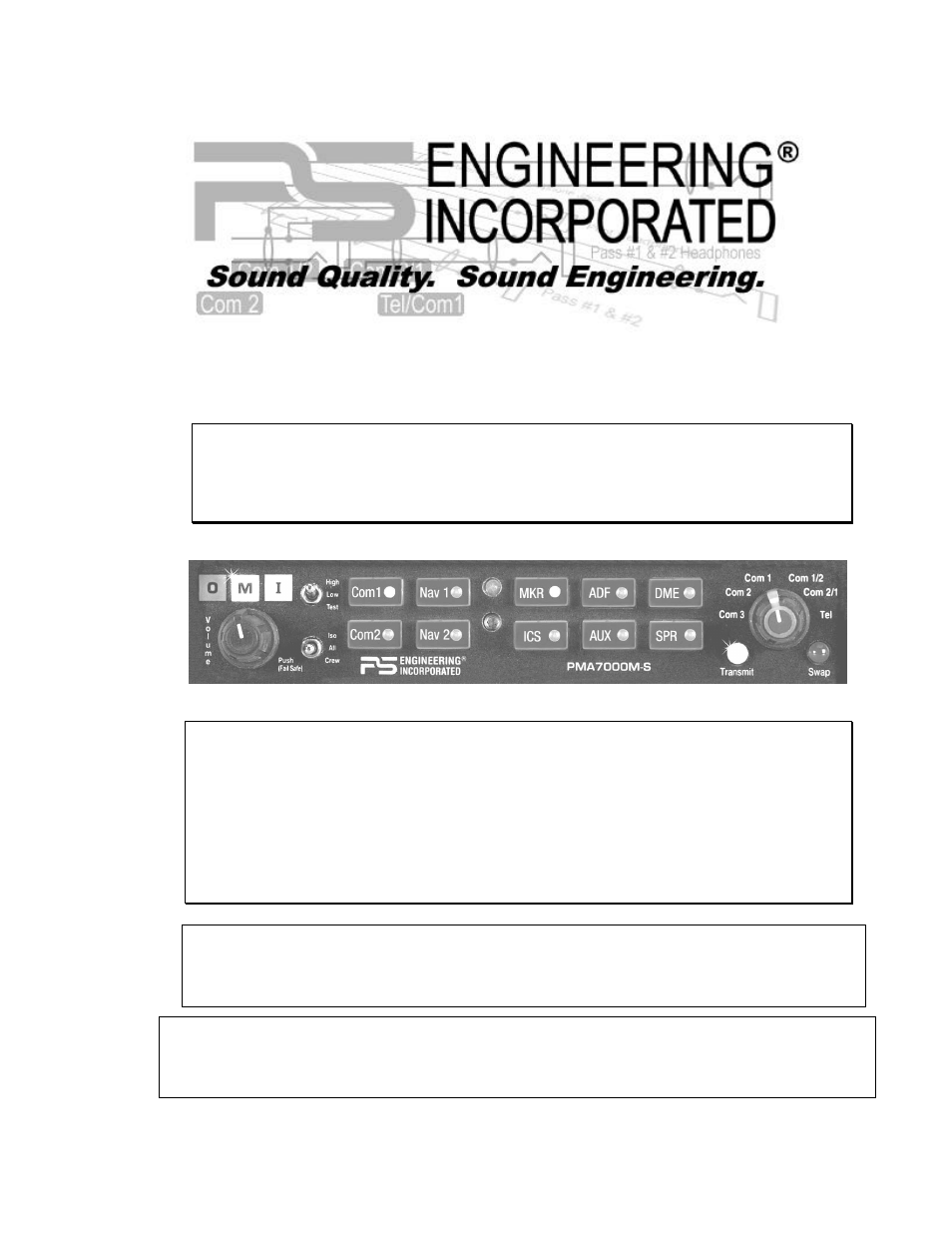 PS Engineering PMA7000M-S Installation Manual User Manual