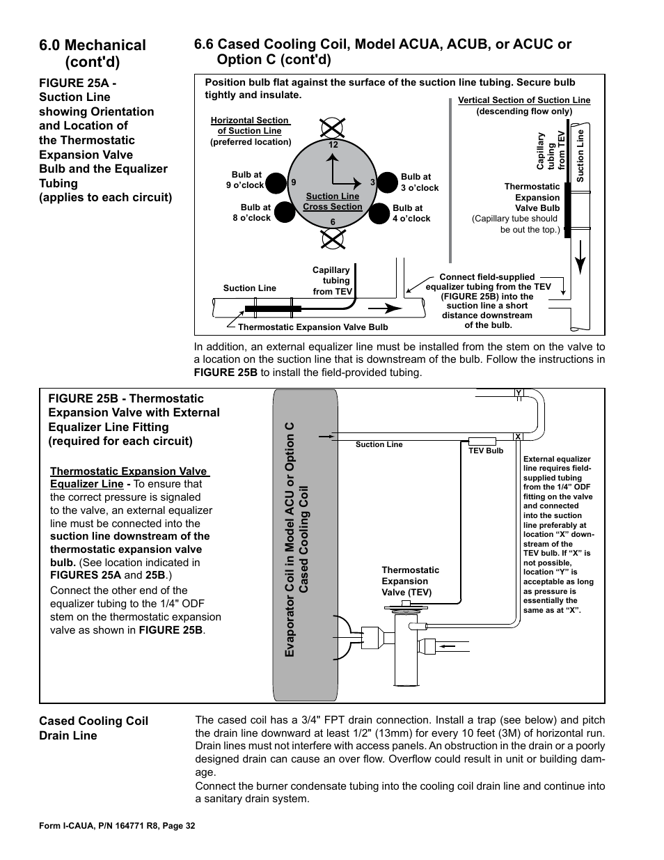 0 Mechanical Contd Reznor Caua Unit Installation Manual User Expansion Valve Diagram Page 32 44