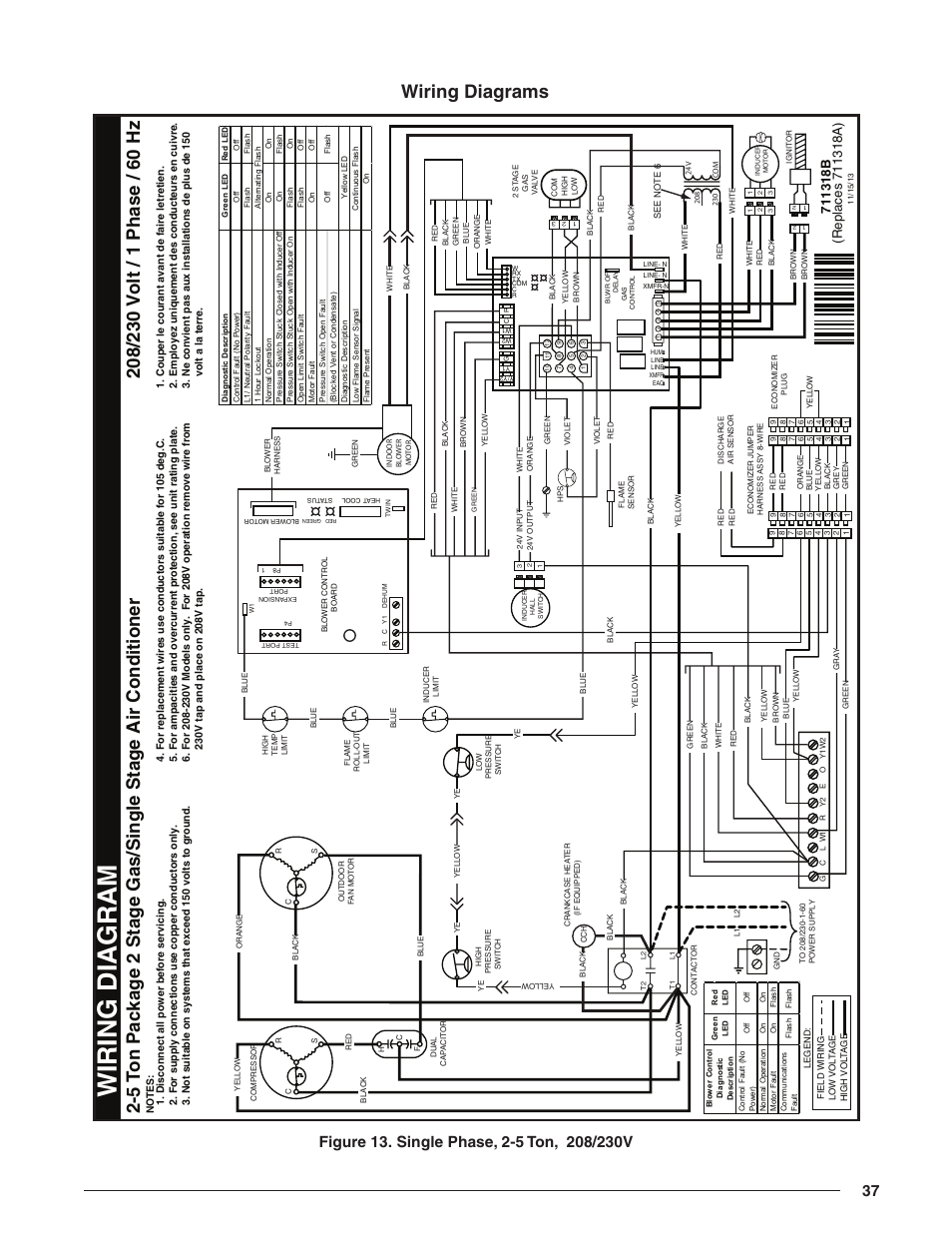 Wiring Diagrams  Figure 13  Single Phase  2