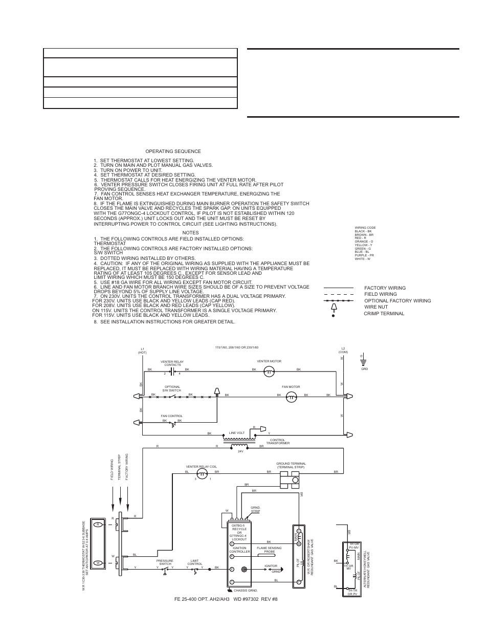 Typical wiring diagrams -- pages 13 - 16 | Reznor BE Unit Installation  Manual User Manual | Page 14 / 29