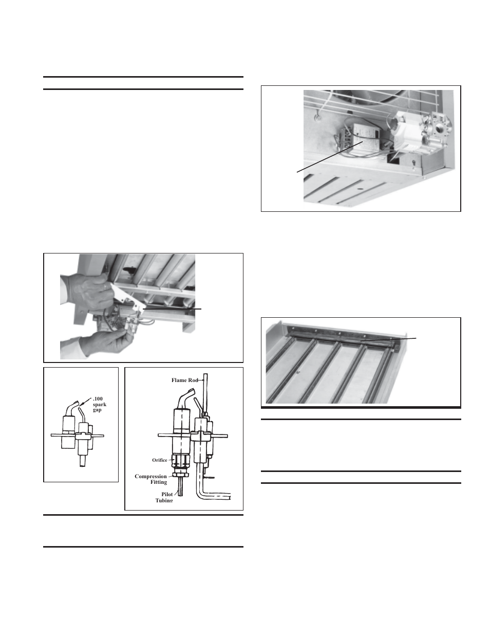 Pilot And Ignition System Flash Carryover Burner Orifices Reznor Assembly For Furnace Wiring Be Unit Installation Manual User Page 26 29