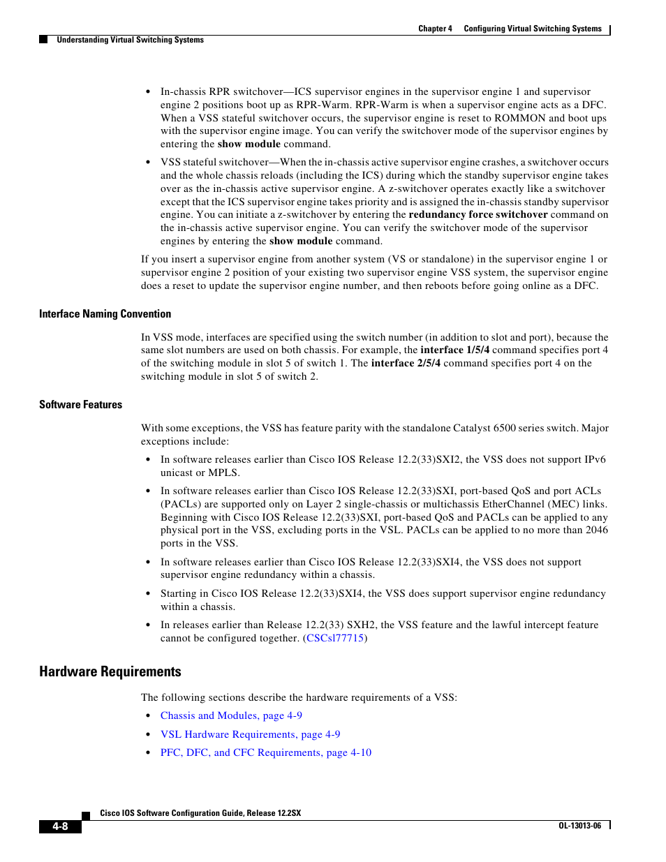 Hardware requirements | Cisco 6500 User Manual | Page 8 / 72