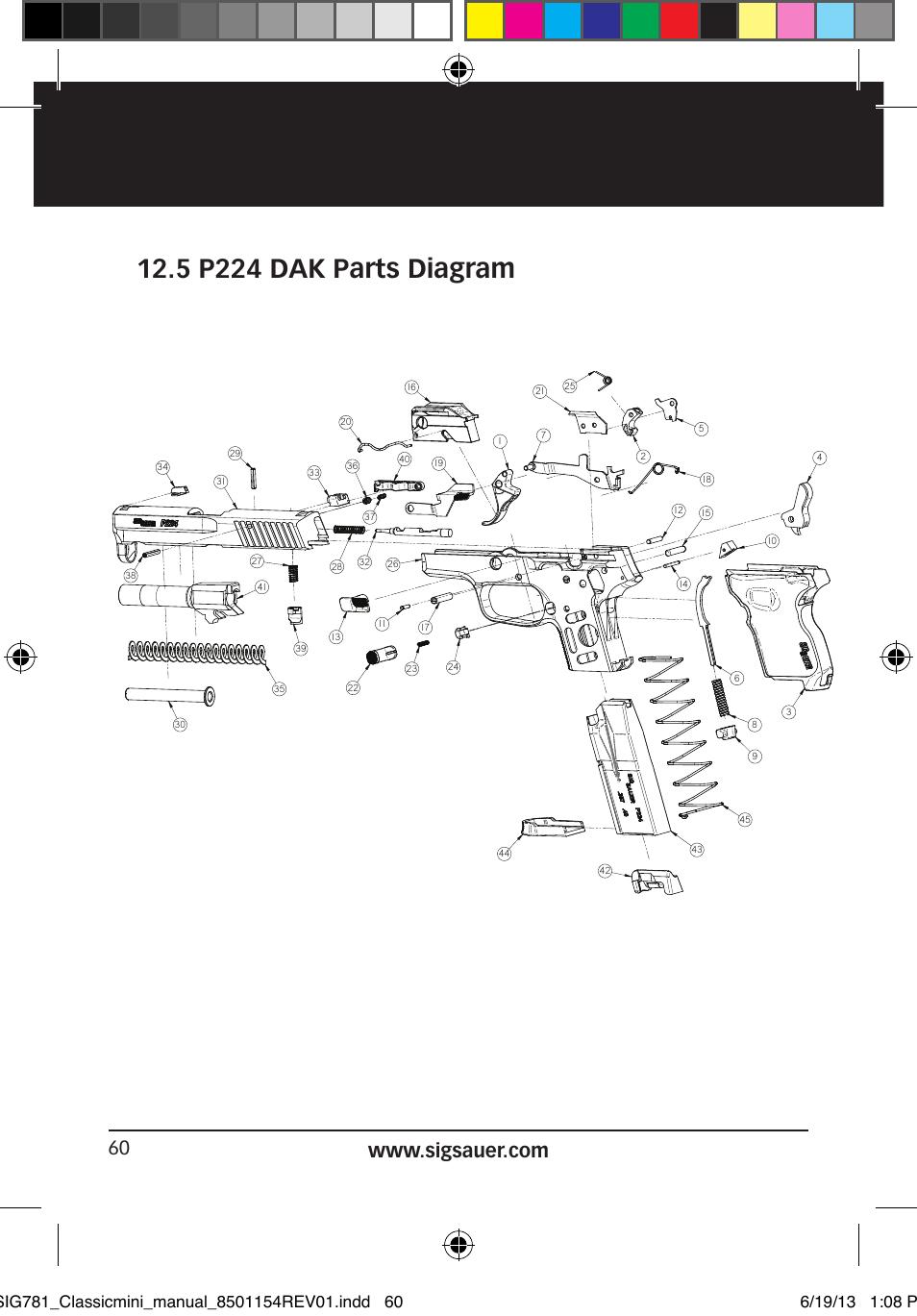5 p224 dak parts diagram sig sauer p229 user manual page 60 88 Sig P250 Parts