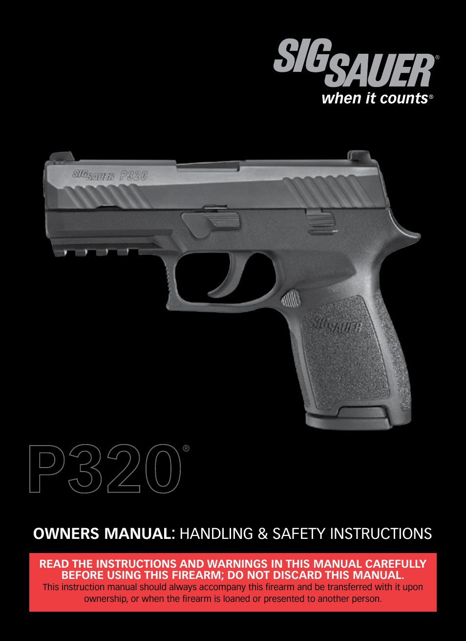 SIG SAUER P320 User Manual | 68 pages