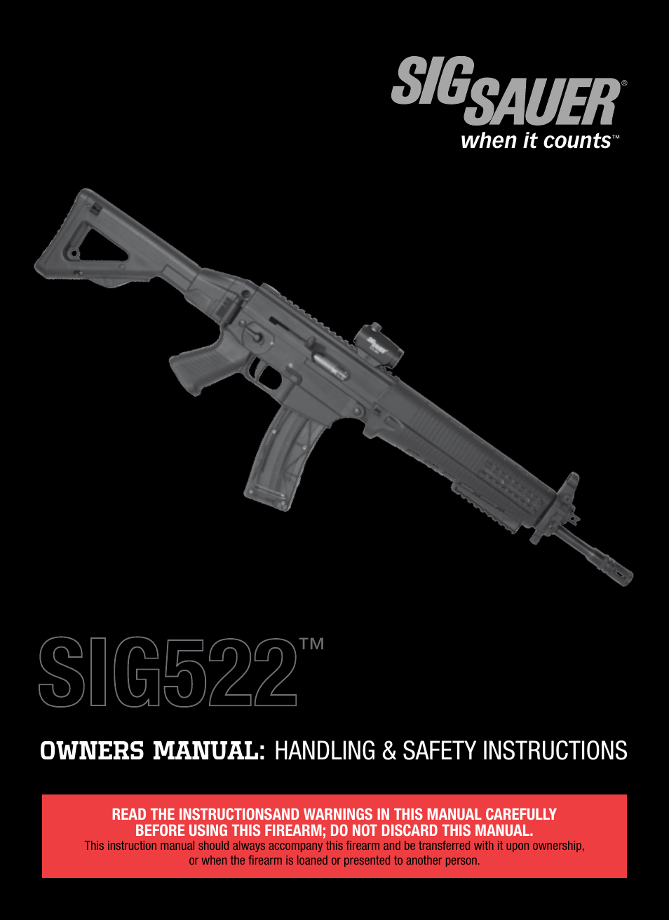 sig sauer sig522 rifle user manual 31 pages rh manualsdir com sig sauer p210 owner's manual sig sauer p210 owner's manual