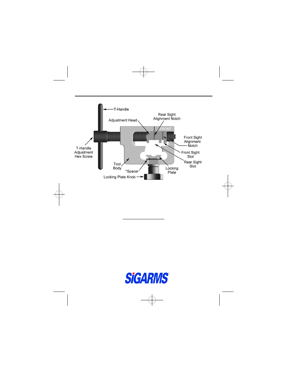 SIG SAUER Universal Sight Pusher User Manual   4 pages