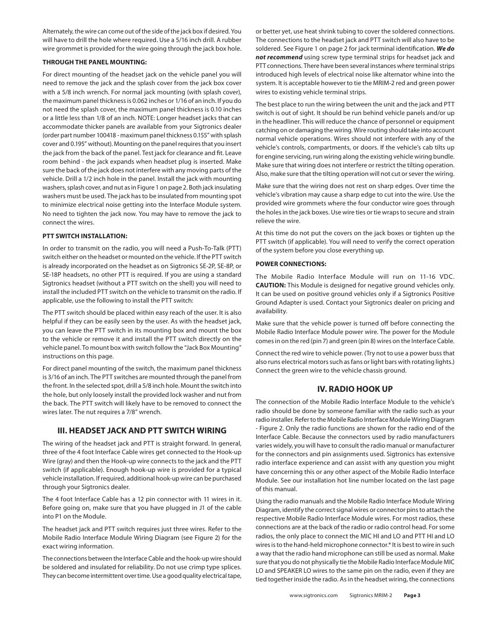 Sigtronics Wiring Diagram | Machine Repair Manual on