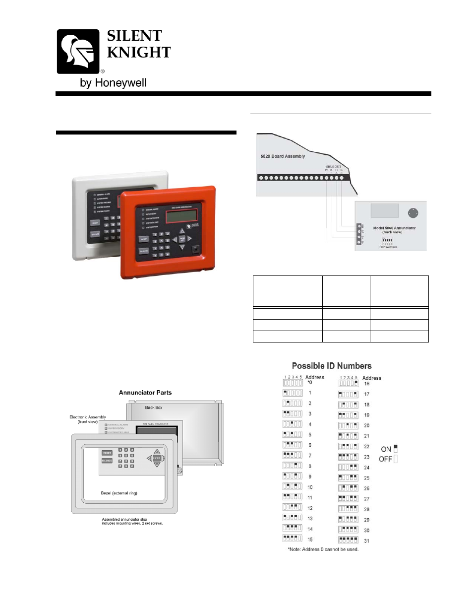 Silentknight 5860 5860r Remote Annunciator User Manual 2