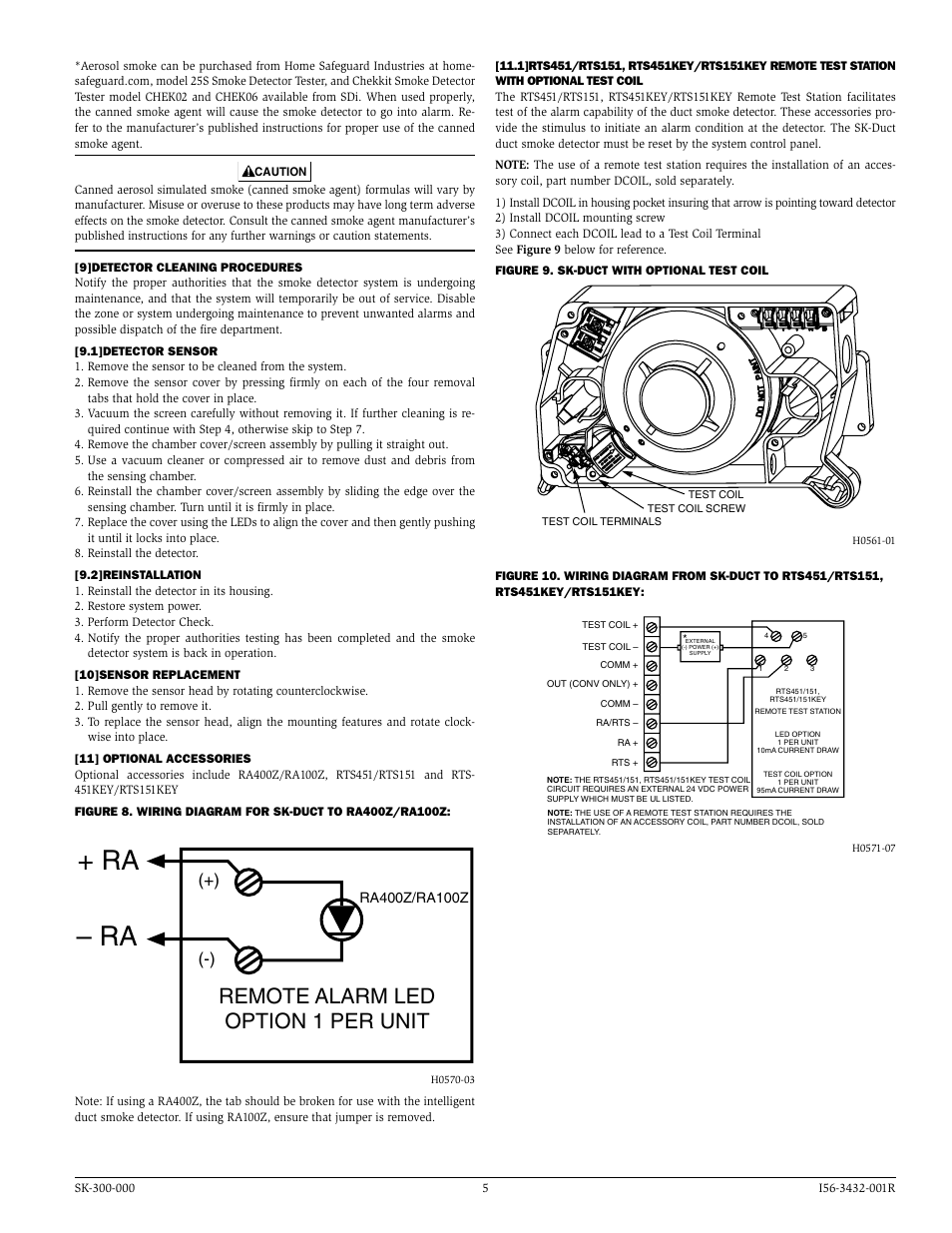 silentknight sk duct addressable photoelectric duct detector page5 ra ra, remote alarm led option 1 per unit silentknight sk duct rts451 wiring diagram at webbmarketing.co