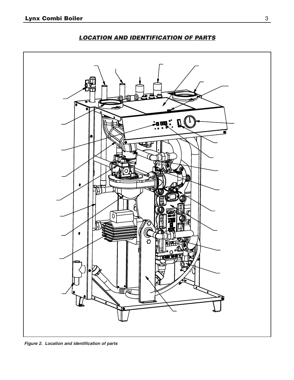 Lynx combi boiler 3, Location and identification of parts | Slant/Fin  LX-150CB User Manual | Page 3 / 44 | Original modeManuals Directory