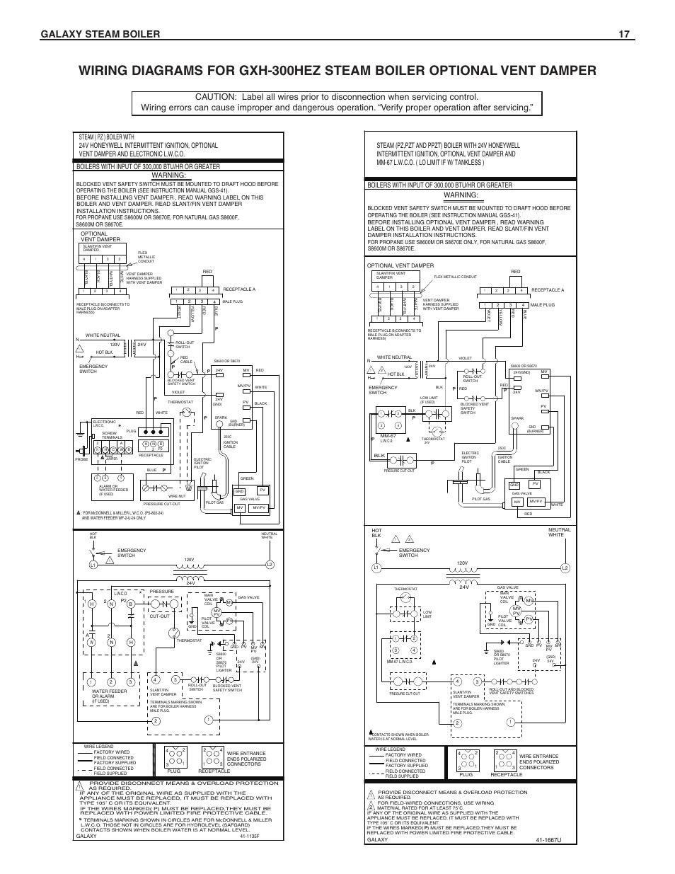 Galaxy steam boiler 17, Warning | Slant/Fin GXHA-200 User Manual | Page 17  / 20Manuals Directory