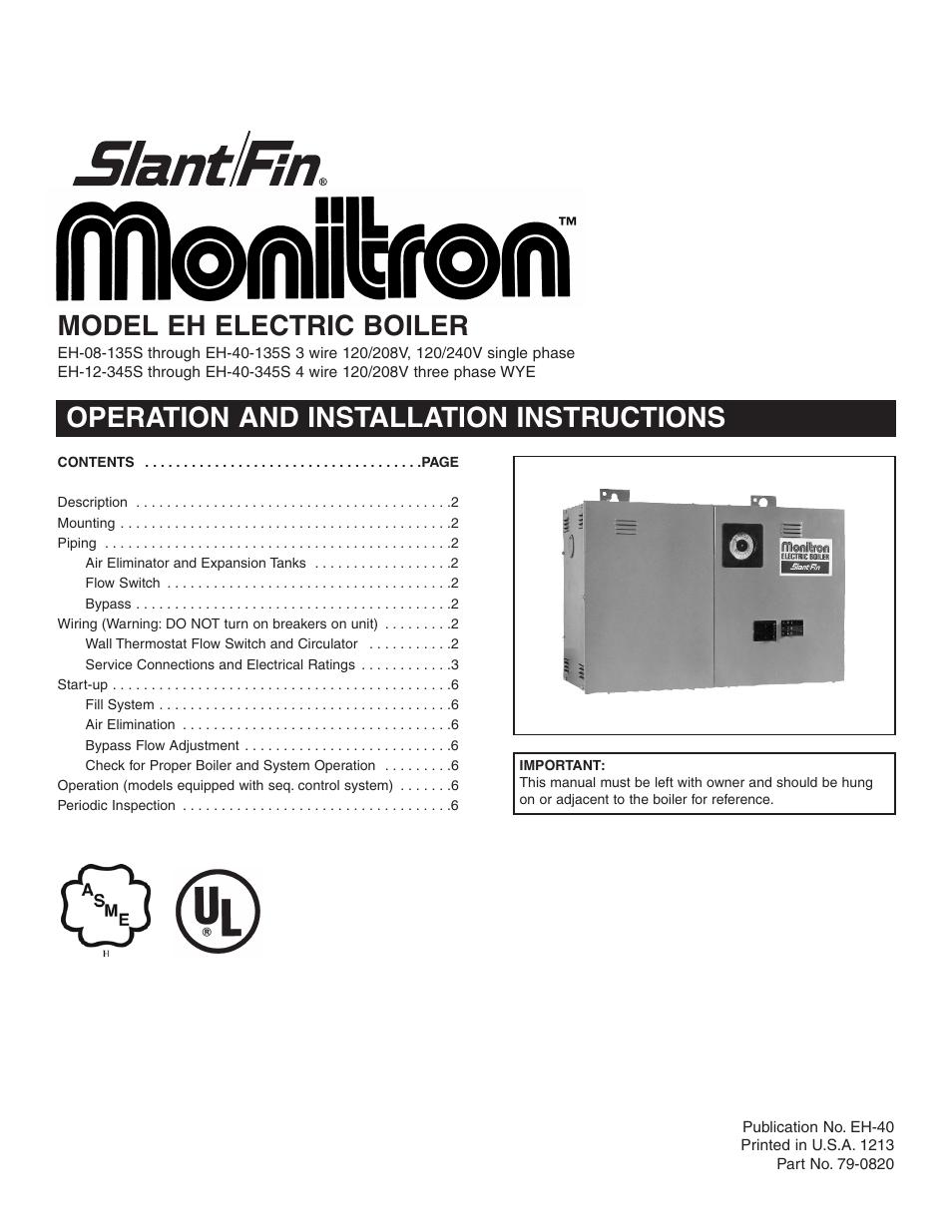 slant fin wiring wiring diagram slant fin boiler problems slant fin eh user manual 6 pages