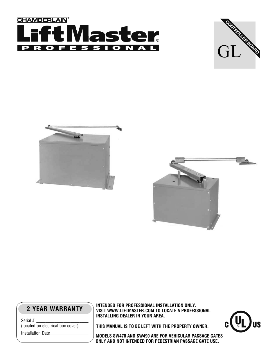 Installation With Chamberlain Liftmaster Professional Manual Guide