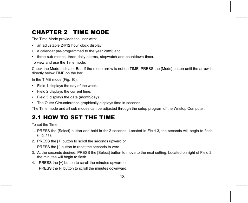 chapter 2 time mode 1 how to set the time suunto x lander user rh manualsdir com Repair Manuals Cartoon Manual